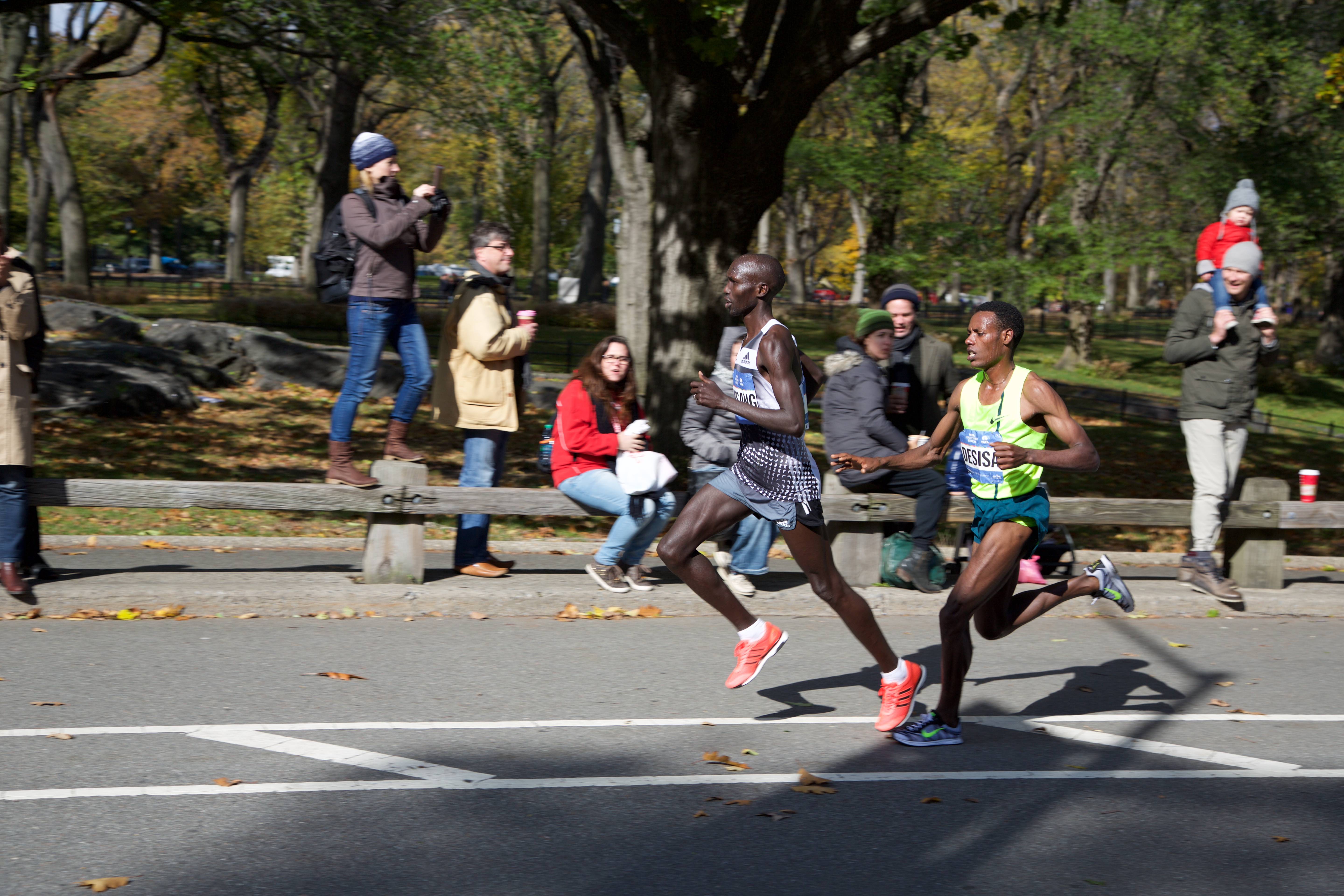 Picture of NYC Marathong runners, soon to be winners